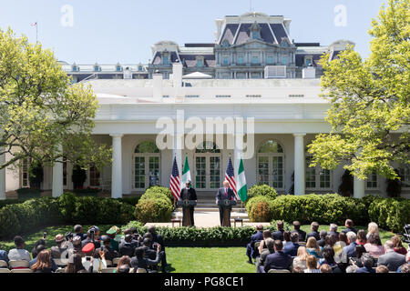 President Donald J. Trump and President Buhari of the Federal Republic of Nigeria | April 30, 2018 Photo of the Day May 1, 2018 - Stock Image