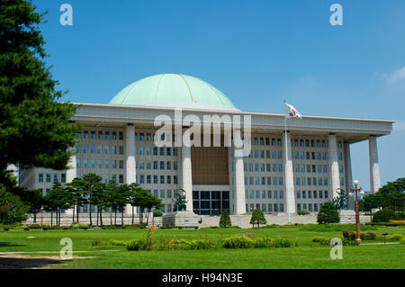 Government assembly in Seoul in South Korea in summer - Stock Image