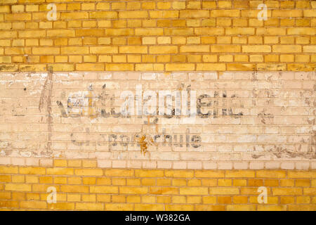 Sign at the Historic Employment Office (Historisches Arbeitsamt) in Dessau, Germany. - Stock Image