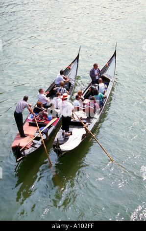Gondolas in Venice Italy - Stock Image