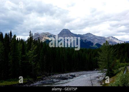 Sheep River Kananaskis Rocky Mountains Alberta Canada - Stock Image