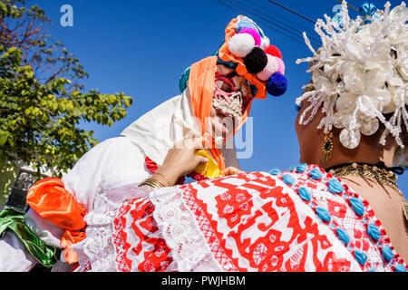 Miami Florida Little Havana Calle Ocho Eighth 8th Street Tres Reyes Magos Three 3 Kings Day Parade Hispanic festival tradition f - Stock Image