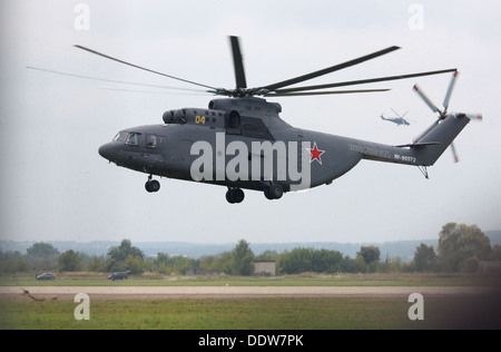 Antiterrorist operation show with use of helicopters - Stock Image