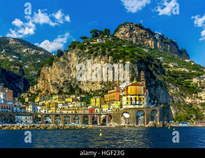 Views of the Amalfi Coast, Positano, Ravello, Maiori, Amalfi. region Campania, Italy - Stock Image
