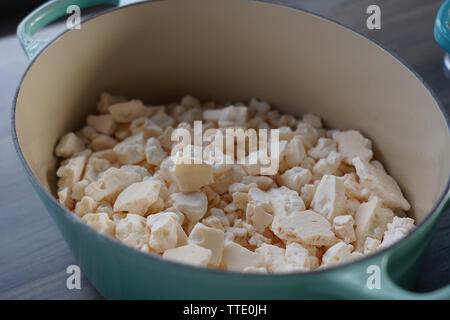 italian meringue cubes closeup - Stock Image