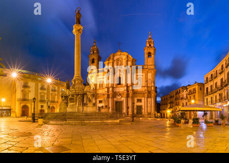 Piazza San Domenico, Palermo, Sicily, Italy - Stock Image