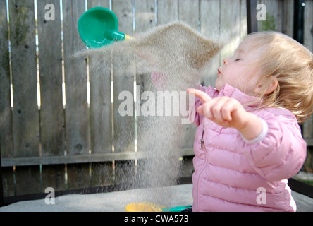 Sand Flies in Toddler Face - Stock Image