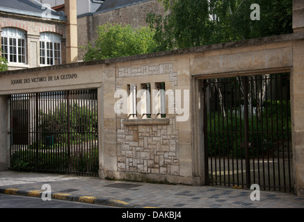 Square des Victimes de le Gestapo, Reims, Marne, Champagne-Ardenne, France. Square of the Victims of the Gestapo. - Stock Image