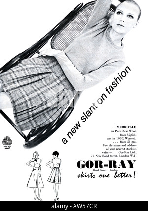 1960s Nova Magazine October 1968 Advertisement for Gor-Ray Fashion in Pure New Wool  FOR EDITORIAL USE ONLY - Stock Image