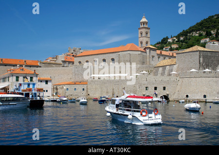 Dubrovnik harbour and the Dominican Monastery,   Dubrovnik, Croatia, Europe, - Stock Image