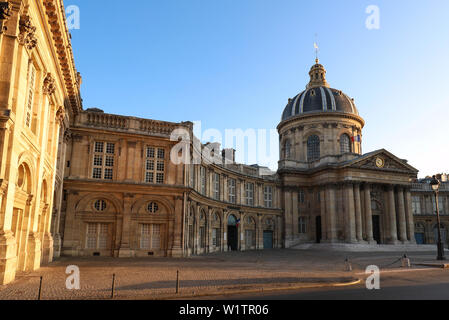 The French Academy at night , Paris, France. - Stock Image