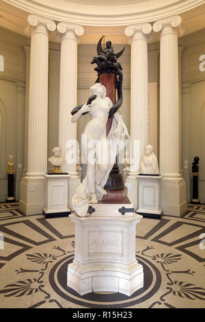 Salammbo, Bronze and Marble Sculpture, Maurice Ferrary, 1899, Lady Lever Art Gallery, Port Sunlight, Liverpool, England, UK, Europe - Stock Image