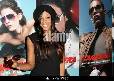 New York, USA. 13 March, 2009. Singer, Dawn Richard, of Danity Kane at the launch of Carrera Vintage Sunglasses at Angel Orensanz Foundation. Credit: Steve Mack/Alamy - Stock Image