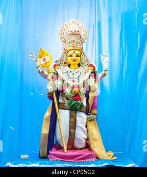 Tiruchendur statue in the Sri Marimman Temple Singapore Malaysia - Stock Image
