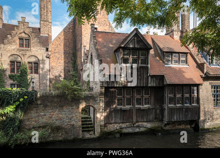 Historic building inside the St Johns Hospital complex, a museum for one of the oldest preserved hospitals in Europe, Bruges, West Flanders, Belgium - Stock Image