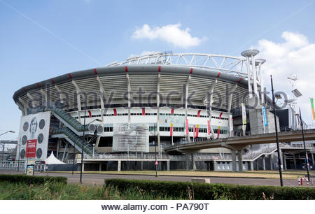 Amsterdam The Netherlands 21st July 2018  The Amsterdam Johan Cruijff Arena.   On Wednesday the theatre for Amsterdam Ajax Champions League tie with Sturm Graz.n - Stock Image