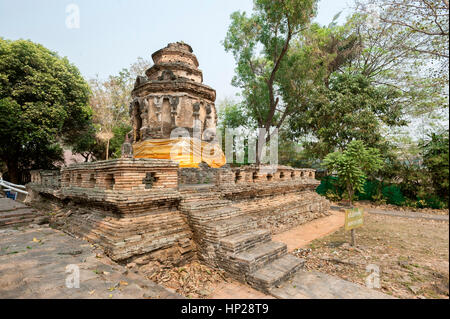 The ruined Animisa Chedi at Wat Jed Yod, Chiang Mai - Stock Image