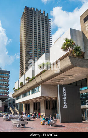 The Barbican Centre,Shakespere Tower,London,England,UK - Stock Image