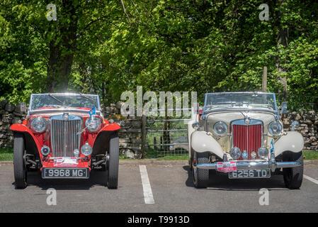 Classic MG sports car. MG TC. - Stock Image
