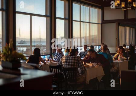 San Francisco fisherman's Wharf  restaurant - Stock Image