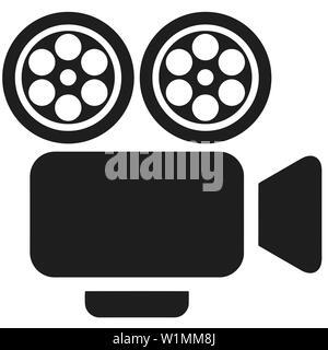 portable movie retro cinematography object cinema silhouette  movie - Stock Image