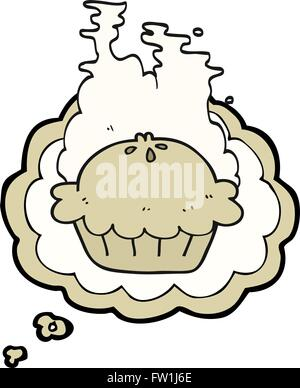 freehand drawn thought bubble cartoon pie - Stock Image