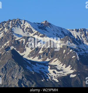 Mountain in Canton of Grisons. - Stock Image