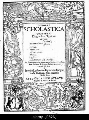 Ogdoas Scholastica Jacob Lorhard - Stock Image