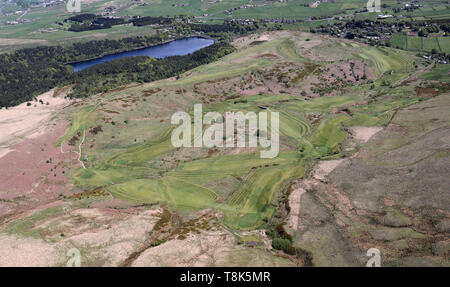aerial view of Halifax Golf Club, West Yorkshire - Stock Image