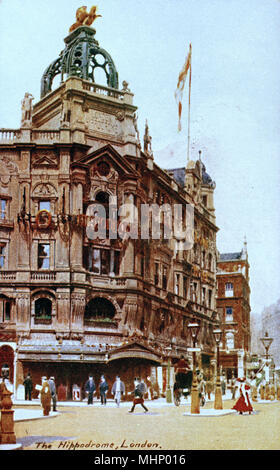 The Hippodrome building on the corner of Charing Cross Road and Leicester Square in the City of Westminster, London.     Date: 1900s - Stock Image