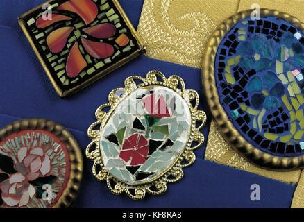 Still Life Pins (Mosaic Technique) - Stock Image
