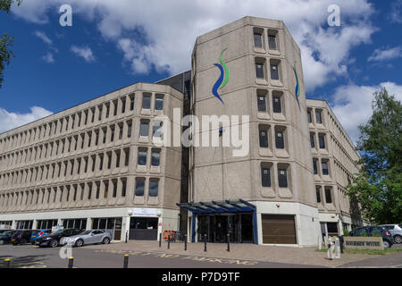 Riverside House, a 1970's building built in the 'brutalist' style; Northampton, UK - Stock Image