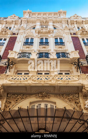 Modernist architecture in the city of Cartagena, Murcia, Spain. - Stock Image