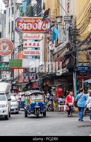 Bangkok, Thailand - 28th November 2014. Busy Yaowarat road in Chinatown. This is the main shopping street. - Stock Image