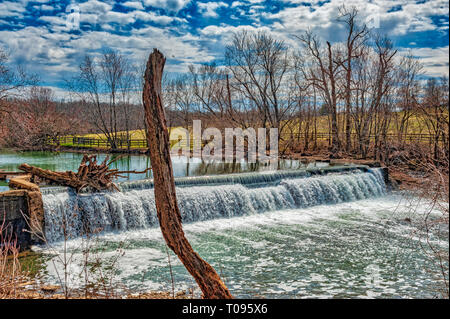 South Elkhorn Creek in HDR, Kentucky USA - Stock Image
