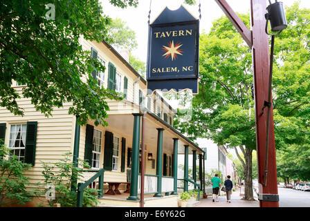 Old Salem, North Carolina. Tavern. - Stock Image
