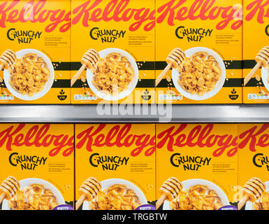 Kellogg/Kellogg's Crunchy Nut breakfast cereal - Stock Image