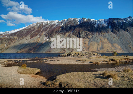 Rocky West Shore at Wast Water - Stock Image