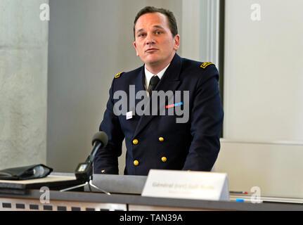 General Vincent Thomassier, Direktor, Direction generale de l'armement, DGA, Directorate General of Armaments, France - Stock Image