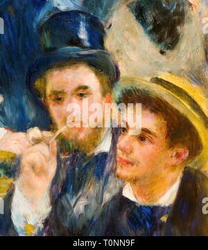 Pierre Auguste Renoir, Detail from Dance at Le Moulin de la Galette, painting, 1876 - Stock Image