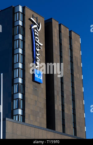 The Radisson Blu Hotel in the town of Bodo in Norway - Stock Image