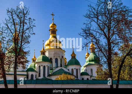 Cathedral of Sophia square in Kiev Kiev, Ukraine 06.11.2018 - Stock Image