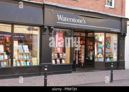 Waterstone's shop front, Gloucester - Stock Image