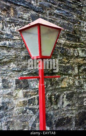 An old lampost at Kinsale, Ireland. - Stock Image