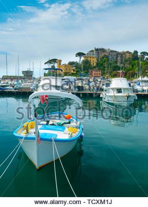 Rapallo Harbour, Italy. - Stock Image