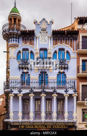 Casa el Torico, Plaza Carlos Castel, Teruel, Aragon, Spain, Europe - Stock Image