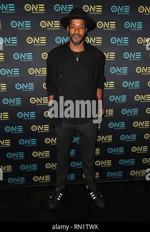 Los Angeles, California, USA. 15 February 2019 - Los Angeles, California - McKinley Freeman. ''Loved To Death'' Los Angeles Screening during the Pan Africa Film Festival held at the Baldwin Hills Crenshaw Cinemark Theater. Photo Credit: Faye SadouAdMedia Credit: AdMedia/ZUMA Wire/Alamy Live News - Stock Image