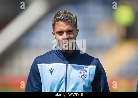 Starks Park, Kirkcaldy, UK. 13th July, 2019. Scottish League Cup football, Raith Rovers versus Dundee; Declan McDaid of Dundee inspects the pitch before the match Credit: Action Plus Sports/Alamy Live News - Stock Image