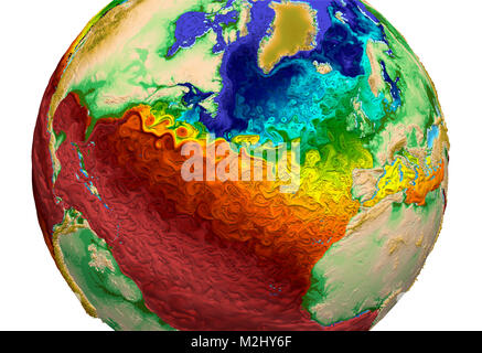 Global Water Surface Temperatures, 2015 - Stock Image