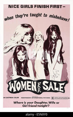 THE WOMAN HUNT, (aka WOMEN FOR SALE), Canadian poster art, 1973 - Stock Image